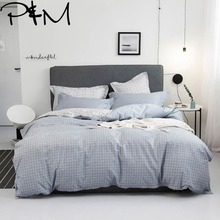 PAPA&MIMA Japanese minimalist style bedding sets cotton Twin Single Queen Size duvet cover bedsheet pillowcases