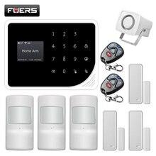 FUERS S5 Russische Spanisch Englisch Dutch wireless Sicherheit Home Alarm System APP Control mit fernbedienung
