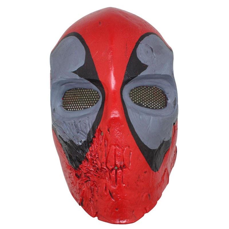 Masque Cosplay en fibre de verre Deadpool Wade Winston Wilson Airsoft maquillage Halloween visage complet