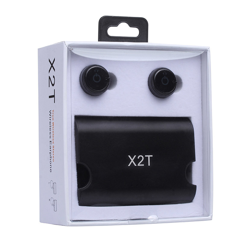 2018 hot portable X2T earbuds super mini true wireless earphone with charger box Bluetooth CSR4.2 headphone for mobile phone gieftu true wireless earbuds twins x2t mini bluetooth csr4 2 earphone stereo with magnetic charger box case for mobile phone