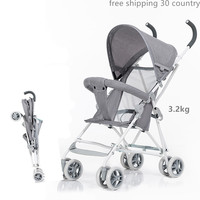 Ultra Light Portable Baby stroller Simple folding baby Kids trolley Toddler small umbrella car baby car Summer 4kg