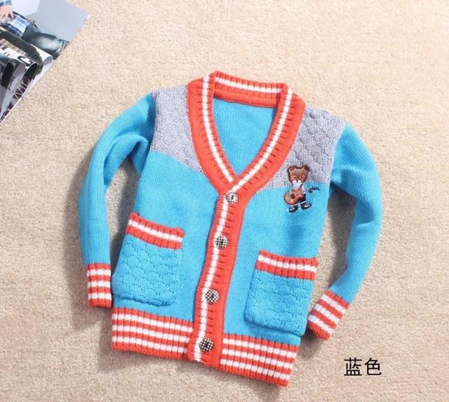 Новая коллекция весна осень 2-4yrs контрастного цвета ребенок gilrs мальчики свитер мальчики кардиган дети свитера для детей куртки Freeshipping
