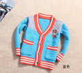 New spring autumn 2-4yrs contrast color baby gilrs boys sweater boys cardigan children sweaters kids jackets Freeshipping