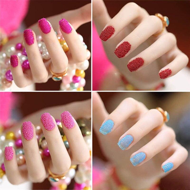 Micro Beads Sprinkles Nail Art Decorations 12 Colors Bundle Kit