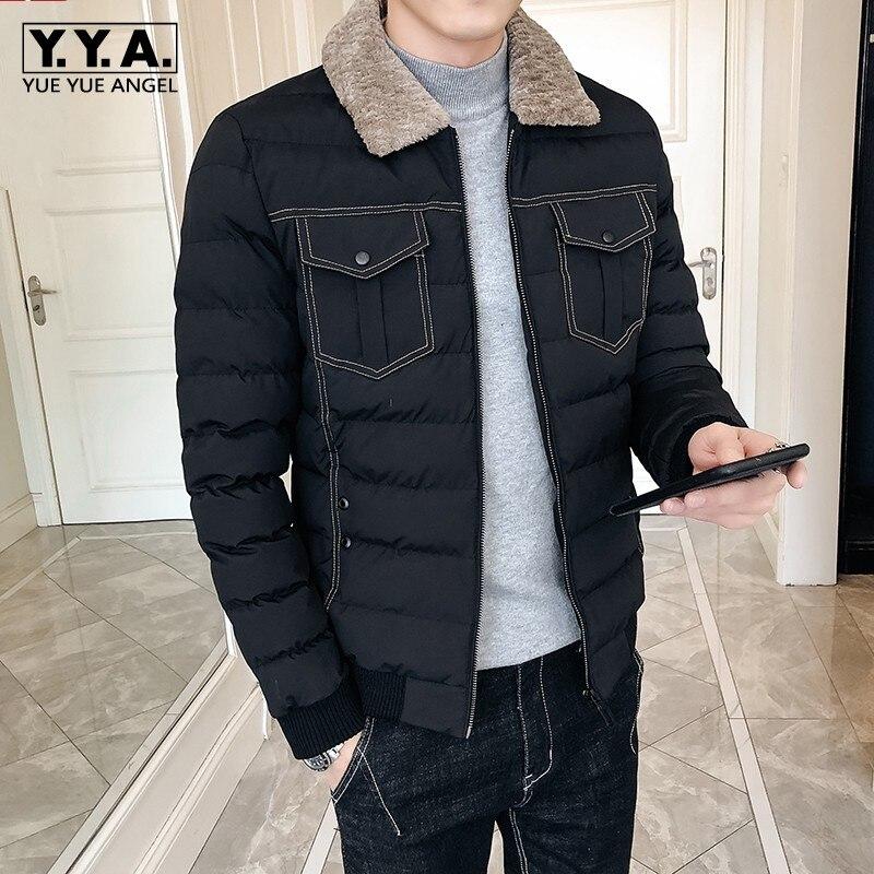 Col Hiver down Pic 3xl Turn khaki Taille as Chaud Épais Vestes Mince Courtes Hommes Coton Outwear Plus Mâle Mode Casual Black Zip Adolescent Manteaux Ywxn0BqO