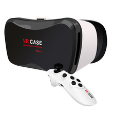 2016 Newest Virtual Reality 3D Glasses VR BOX 3.0 Version VR CASE With Remote Controller for iPhone Samsung all Phones