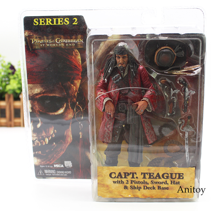 NECA Pirates of the Caribbean Figure At Worlds End Capt Teague Action Figure Toy Gift 18cm KT4485