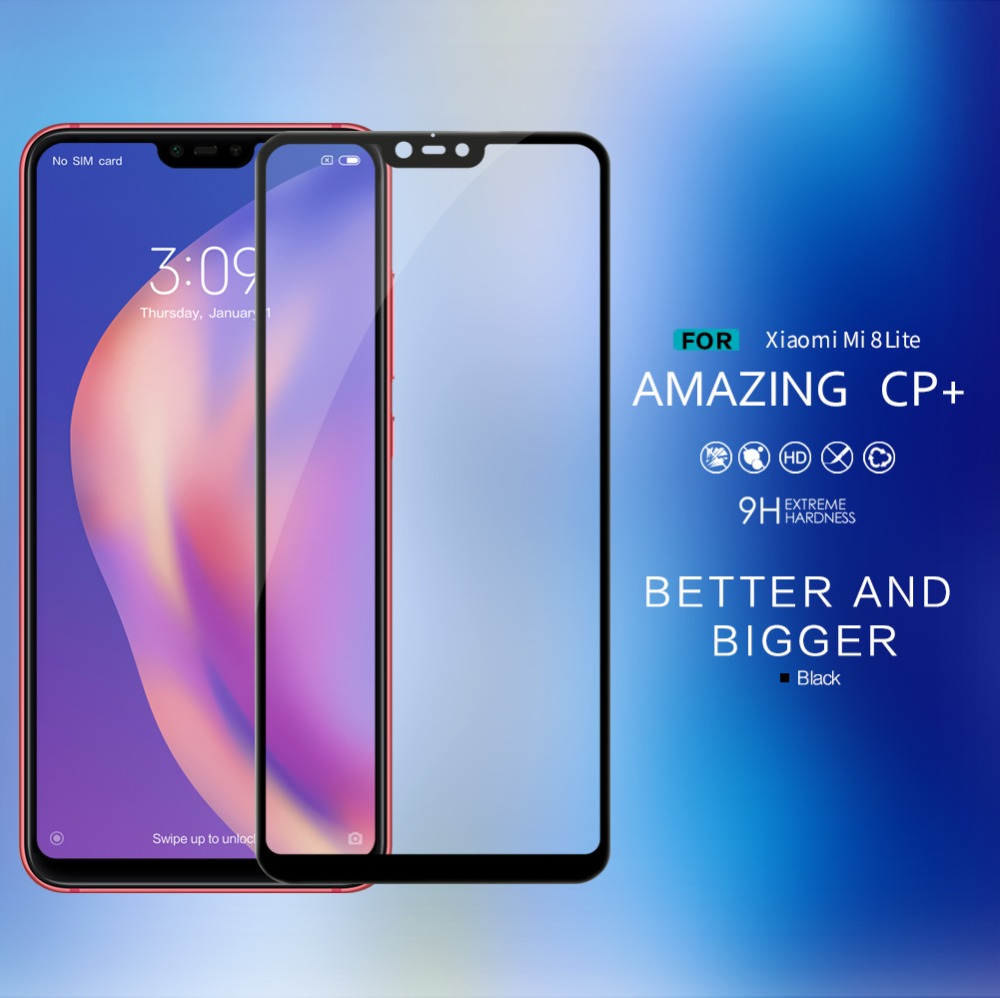 10pcs lot Wholesale NILLKIN Amazing CP Anti Explosion tempered glass screen protector for Xiaomi Mi 8
