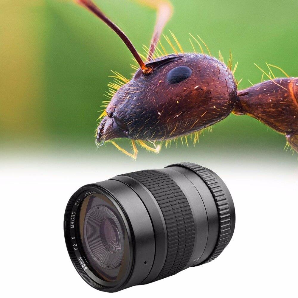 Lente de Foco Fixo para Canhão Super Macro Manual 1100d 550d 600d 750d 77d 80d Nikon D7200 D5200 D3200 D800 Dslr 60mm f – 2.8 2:1