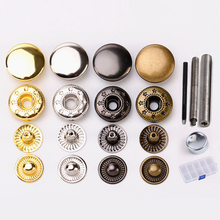 12.5MM 30Sets/Lot Metal Snap Buttons Snaps Press Button Fasteners With 4 Pieces DIY Fixing Press Studs Clothing Sewing Tool 2018 50pcs lot 9 5mm black prong open ring no sew press snaps fasteners brass button nickel rivet free shipping