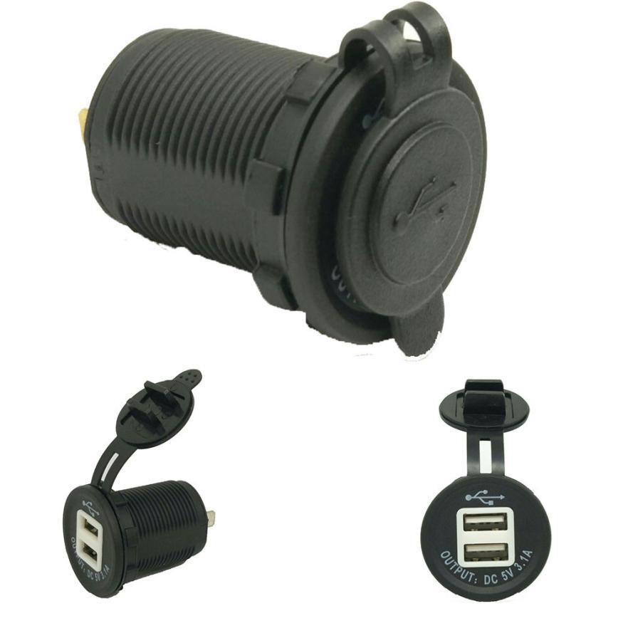 Dual USB Motorcycle Phone Power Supply LED Charger Waterproof Port Socket Wonderful4.25/30%