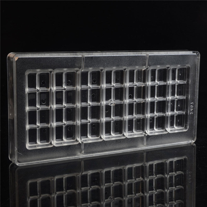 Polycarbonate Clear DIY Chocolate Candy Handmade Fondant Molds Kitchen Tray Bar Mold Sweet Candy Mold