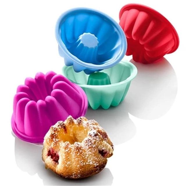 5 Teile Los Silikon Savarin Formen Muffin Pudding Puddingform Engel