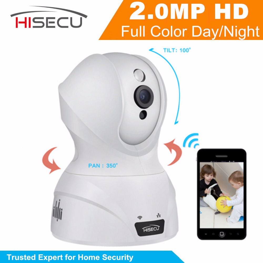 ФОТО Hisecu Indoor Home Security CCTV Camera 2MP 1080P Wifi Wireless IP Camera Baby Monitor Camera Night Vision Camera 3.6mm lens