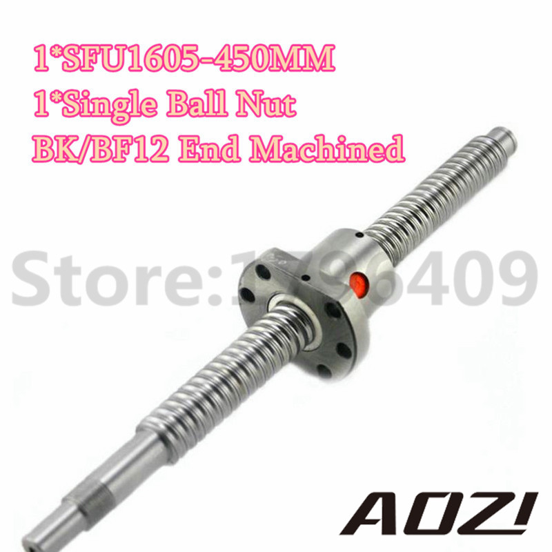 Set ball screw kit pc mm length sfu ballscrew