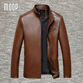 4 colores del cuero genuino capas de la chaqueta de piel de oveja de negocios chaquetas chaqueta de moto hombre veste cuir homme cappotto LT047