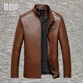 4Colors genuine leather jacket coats men sheepskin coat business jackets chaqueta moto hombre veste cuir homme cappotto LT047