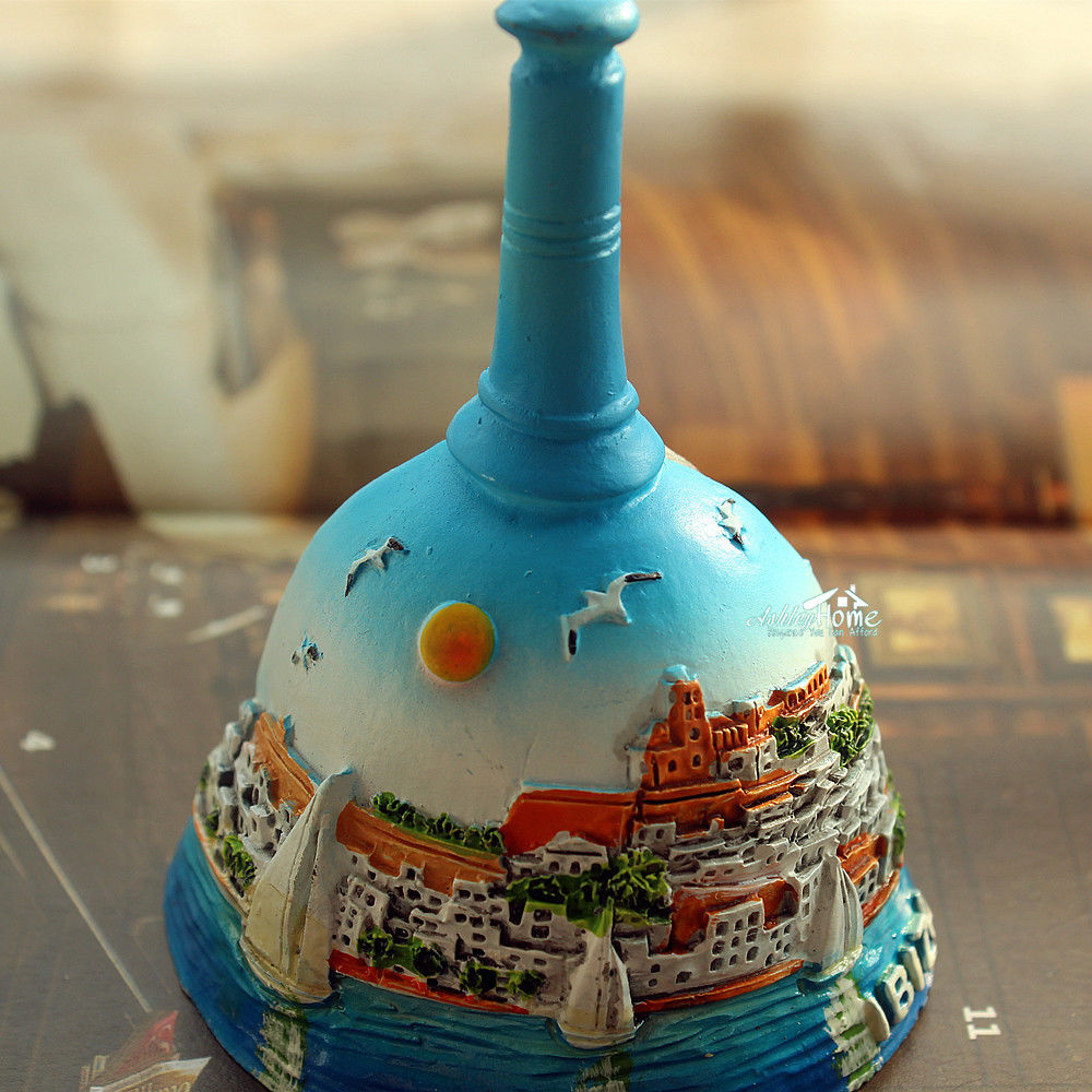 IBIZA, Spain Tourist Travel Souvenir Hand Bell Shaped 3D Resin Fridge Magnet Craft GIFT IDEA