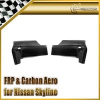 Car styling Carbon Fiber Eastbear Style Side Skirt Addon Fit For Nissan Skyline R32 GTR