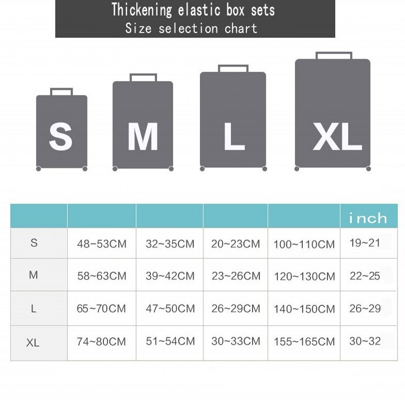 Travel Accessories Elastic Luggage Protective Cover Apply 18 To 32 Inch Trolley Suitcase Luggage Cartoon Dust Cover Accessories