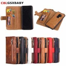 CBL 2 in 1 Zipper Wallet Leather Case Fo