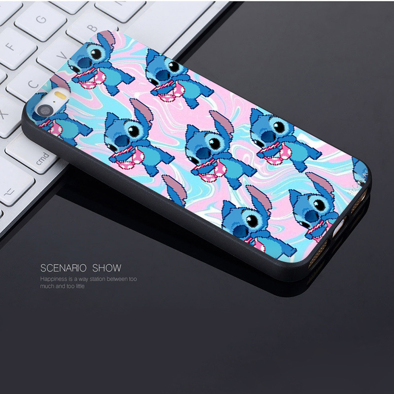MaiYaCa Cute Cartoon Stitch Coque Shell Phone Case for Apple iPhone 8 7 6 6S Plus X 5 5S SE 5C Cover