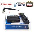 Melhor preço V7 Freesat HD Receptor de Satélite DVB-S2 Receptor de Satélite + cccam europa cccam cline servidor para 1 anos + 1 PC USB WIFI