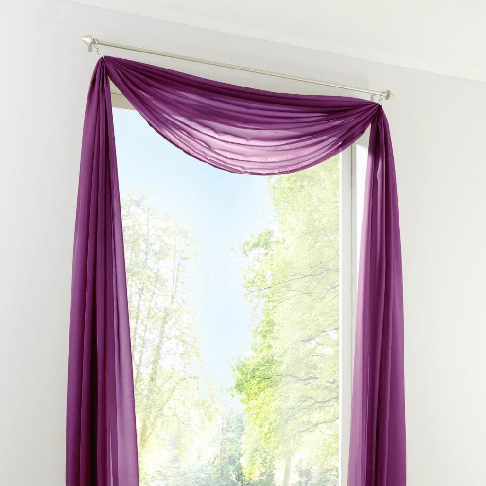 New Sheer Voile Window Scarf Curtains Fashion European