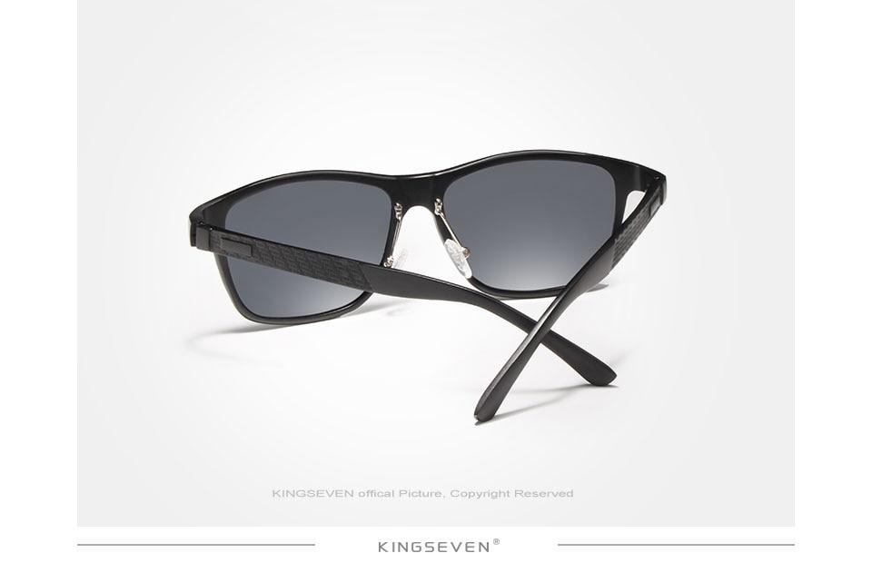 KINGSEVEN Men's Polarized Sunglasses Aluminum Sun Glasses Driving Square Shades Oculos masculino Male Eyewear Goggle