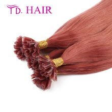 #35 New Red Nail U Tip Hair Fashion Hair star style free shipping100% virgin Human Hair hot selling U tip hair Extensions