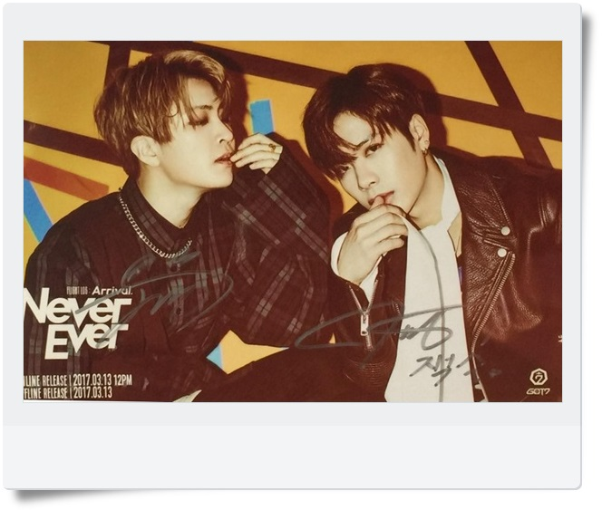 GOT7 GOT 7 Youngjae Jackson  autographed signed photo FLIGHT LOG:ARRIVAL  6 inches new korean freeshipping 03.2017 orient sw05001t