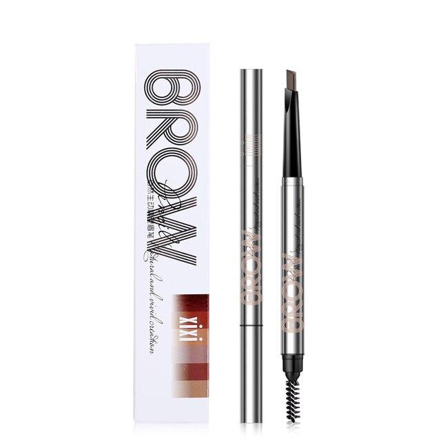 2019 5 Color Double Ended Eyebrow Pencil Waterproof Long Lasting No Blooming Rotatable Eye Brow Tatoo Pen