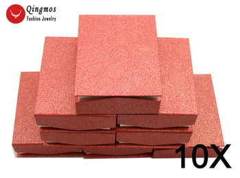 Qingmos Wholesale 10X Rectangle Multi Purpose China Red Jewelry Displays Boxes who103