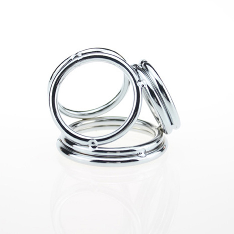 Beaded rings Metallic cock