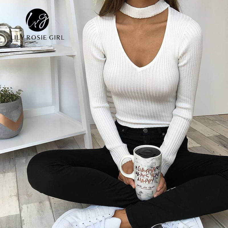 Autumn Halter Hollow Out Sexy Bodysuit Women Pink Long Sleeve - Women's Clothing - Photo 4