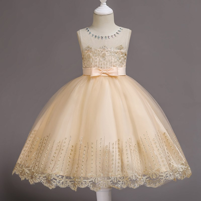 4afe2002c02c JaneyGao Flower Girl Dresses For Wedding Party Elegant Little Girl Formal  Gown With Crystal Princess Teenage