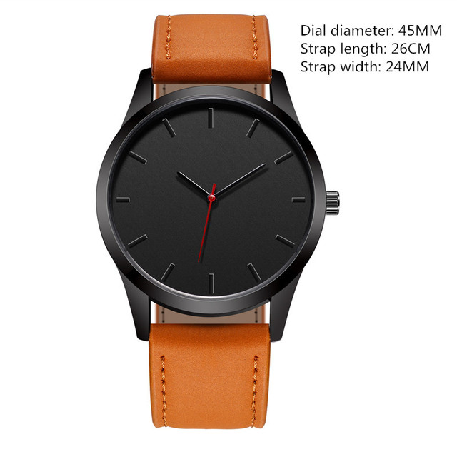 Reloj 2018 Fashion Large Dial Military Quartz Men Watch Leather Sport watches High Quality Clock Wristwatch Relogio Masculino T4 4