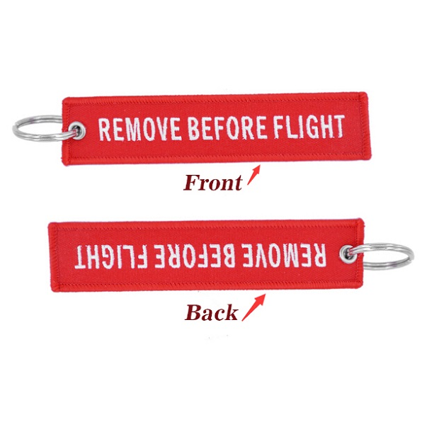 Remove Before Flight Pilot Key Chain OEM Key Chains Jewelry Embroidery Safety Tag Aviation Gifts Special Blue Pilot Luggage Tag1