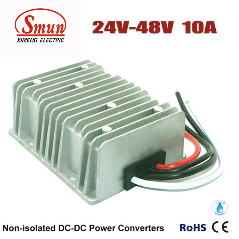 ФОТО DC-DC Power Converter 24v to 48v 10A 480W Waterproof for Electric Car