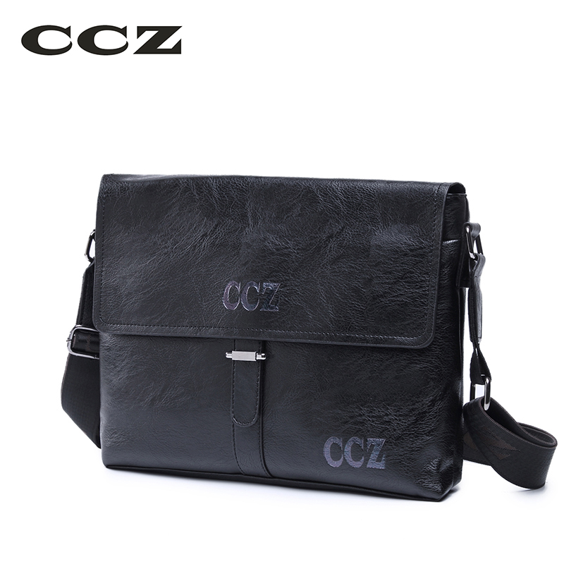 CCZ 2017 New Arrival Crossbody Bags For Men Casual Style Shoulder Bags Mens PU Leather Messenger Bag Ipad Container SL8001