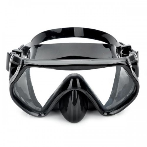Scuba Diving Snorkeling Silicone Swimming Pool Mask Set Black Hot Selling