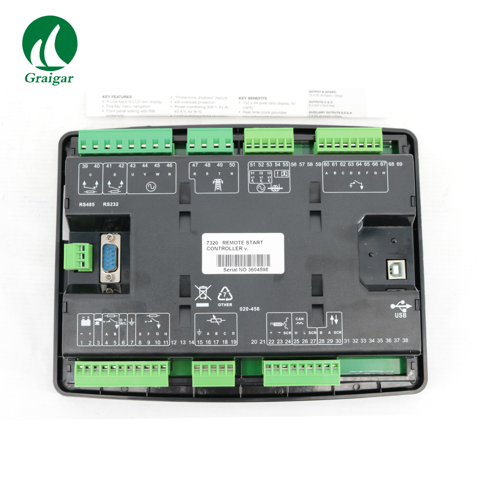 US $238 0 |New Generator Controller DSE7320 Auto Start Control Module-in  Generator Parts & Accessories from Home Improvement on Aliexpress com |