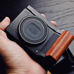 Wooden Wood Hand Grip with Alum Base Plate Bracket  For Leica M10
