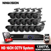 1080 P 16 канальный CCTV AHD системы sony 1200TVL ИК Всепогодный товары теле и видеонаблюдения комплект 16ch Wi Fi DVR регистраторы системы