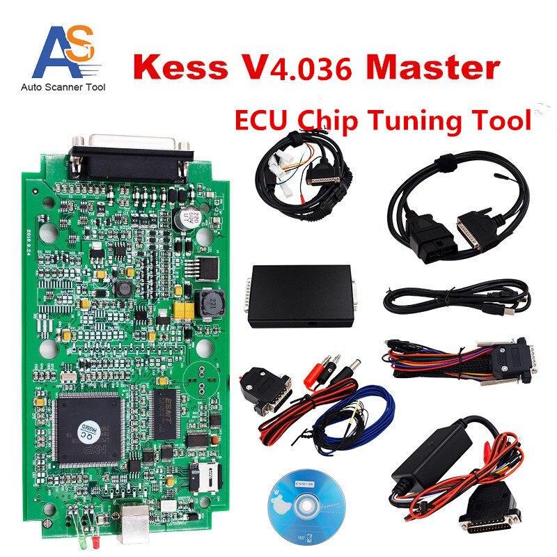 Full Chip KESS  Master OBD2 Manager Tuning Kit Kess Hardware V4.036 ECU Chip Tuning Tool No Token Limited  For Multi-Brands