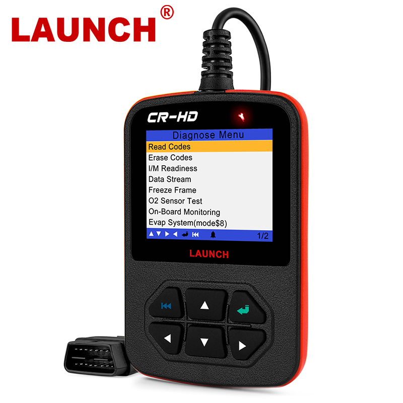 Herramienta de diagnóstico automotriz escáner lanzamiento CRHD herramienta de diagnóstico Auto para camiones pesados con J1939 J1587 J1708 para trabajo pesado