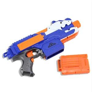 Image 4 - Jouet pistolet électrique pour garçons, balle souple, costume pour Nerf fléchettes, Blaster, fusil de Sniper, pour tirer en extérieur, modèle 2020