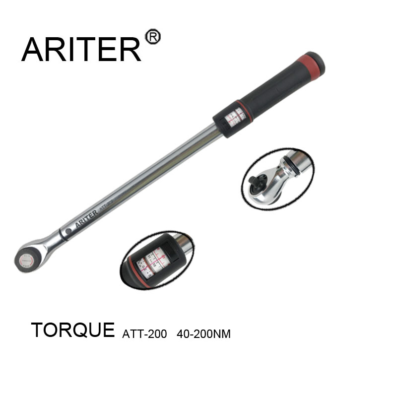 Factory mechanical maintenance high precision torque wrench 40 200N.m High reliability 1/2 Square Drive Hand Tools