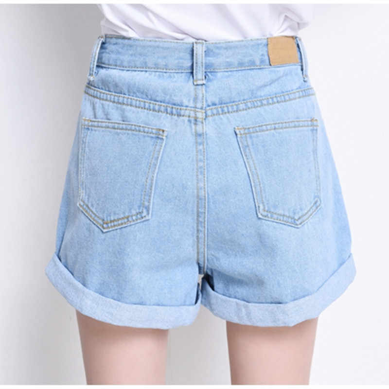 elegant shoes info for good looking Hzirip 2019 Summer Vintage High Waisted Denim Shorts Women Plus ...