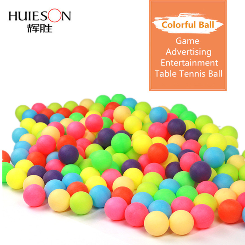 Huieson 100Pcs/Pack Colored Ping Pong Balls 40mm 2.4g Entertainment Table Tennis Balls Mixed Colors For Game And Advertising